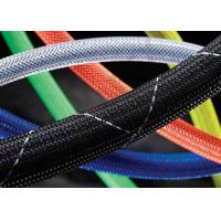 Plastic Braided Computer Cable Sleeves , Expandable Braided Cable Sleeving