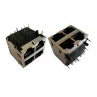 Wholesale 1000 Base-t Gigabit Circuit Stacked RJ45 Modular Connectors , 2 x 2 Ports LPJK from china suppliers