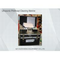 Wholesale Flush Liquid Ultrasonic Printhead Cleaning Machine , Black Heated Ultrasonic Cleaner from china suppliers