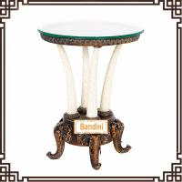 Buy cheap Chic and Elegant Antique Round Coffee Table Livingroom furniture antique table G058GE from wholesalers