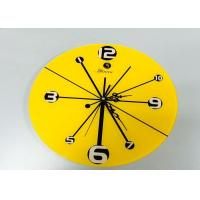 Wholesale Dinning Room Yellow Reverse Wall Clock Decorative Home Design , Carved from china suppliers