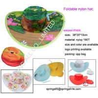 Wholesale Foldable nylon hat, warped design; from china suppliers