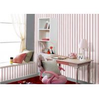 Wholesale Plush Surface Red And Grey Striped Wallpaper For Bedroom Walls from china suppliers