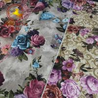 Wholesale China factory digital print flower design Holland velvet fabric for upholstery and furniture from china suppliers