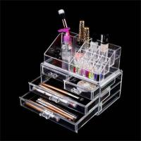 Wholesale Clear Makeup case drawers Cosmetic Organizer Jewelry storage Acrylic cabinet Box from china suppliers