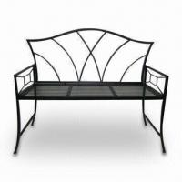 Wholesale Iron Bench with Power-coated Finish, Measures 44.5 x 19 x 35.5 Inches from china suppliers