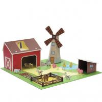 Wholesale 3D Paper kidkraft Corrugated Cardboard Toys garden Play Houses ENTO003 from china suppliers