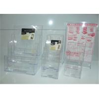 Wholesale Non Toxic Custom Clear Acrylic Display Products / Acrylic Brochure Holders from china suppliers