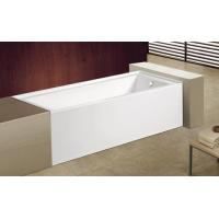 Wholesale cUPC skirted acrylic bathtub with feet price 3 sides tile flange 4mm pure acrylic sheet from china suppliers