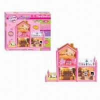 Wholesale 97-piece Plastic Assembling Happy Family Doll House Set Toys, Made of PP, PS Materials from china suppliers