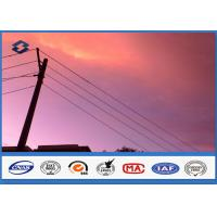 Wholesale Philippines Octagonal 25FT - 45FT power transmission poles , 1 Section galvanized steel post from china suppliers