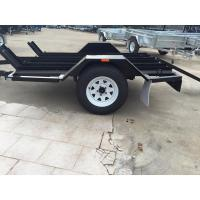 Wholesale Solid Axle Motorcycle Transport Trailer , 8x6 Tandem Axle Flatbed Trailer from china suppliers