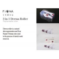 Wholesale Titanium 3 in 1 changeable heads 180/600/1200 needle derma roller with micro needle roller from china suppliers