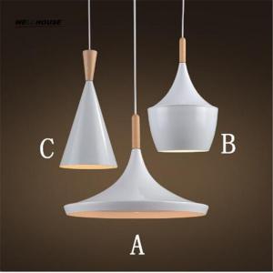 Wholesale Modern Wood Design England Beat Musical Instrument Hanging Lamp Vintage Pendant Light Restaurant Bar Living Room from china suppliers