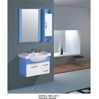 Wholesale Contemporary pvc bathroom vanity with Cremic basin colors available square Type from china suppliers