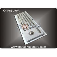 Wholesale Stainless Steel Industrial Keyboard with Trackball / IP65 Waterproof from china suppliers