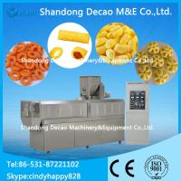 Quality 100-150KG/H twin screw extruder for puffing snack food line / snacks food corn puffed for sale