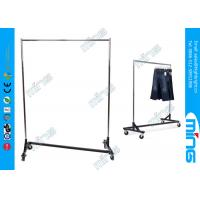 Wholesale Heavy Duty Metal Clothes Rack , Customized Black Garment Racks from china suppliers