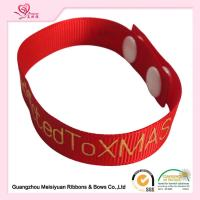 "Quality 6/8"" Red Grossgrain Ribbon , Custom Printed Grosgrain Ribbon With Hot Stamping Logo For Apparel Hangtag for sale"