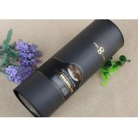 China Custom Hot Stamping Paper Tube Packaging Black For Wine Bottle FDA Approval on sale
