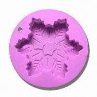 Wholesale Promotional Silicone Christmas Cake Mold in Snowflake Design from china suppliers