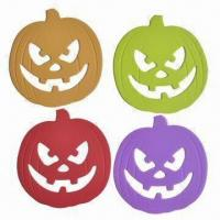 Buy cheap Silicone Pumpkin-shaped Pot Holders, Heat-proof, Stain-resistant and Dishwasher-safe from wholesalers