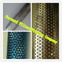Wholesale Colorful Decorative Perforated Metal Tube With Straight Weld / Round Shape from china suppliers
