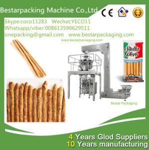 Wholesale Máquina de envasado de alta velocidad con pesador de cabezas múltiples para palitos de pan de alimen from china suppliers