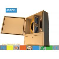 Wholesale Cold Rolled Steel Outdoor Fiber Cabinet 48 Cores Fixing Device Street Cabinet from china suppliers