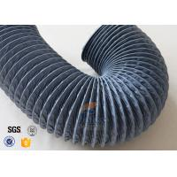 Wholesale 150mm Grey PVC Coated Fiber Glass Hose Fiberglass Flexible Air Ducting from china suppliers