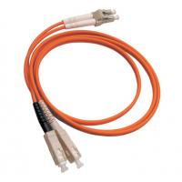 Wholesale Duplex 3.0mm SC/UPC to LC/UPC hybrid fiber optic patch cord Orange from china suppliers