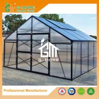 Wholesale 406x406x273cm Black Color Durable 15 Years Warranty Aluminum Greenhouse from china suppliers