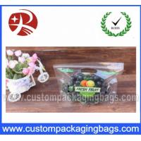 Wholesale High Transparency Punch Ziplock With Vent , Fruit Grape Packaging Bags from china suppliers
