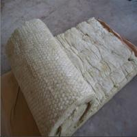 Wholesale 100kg/m3 rock wool blanket,rock wool roll with GI wire mesh for tank insulation from china suppliers