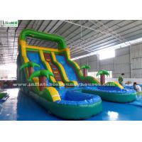 Wholesale Double Lanes Inflatable Water Slide Games Huge Colorful With Pools from china suppliers