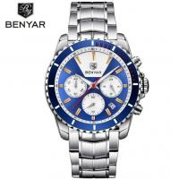 China Benyar Men Steel Band 3 atm Waterproof Chronograph Date DIsplay Quartz Business Wrist Watch BY-5128 for sale