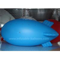 Quality 0.2mm PVC Blue Color Inflatable Airship Balloon , Advertising Air Balloons for sale