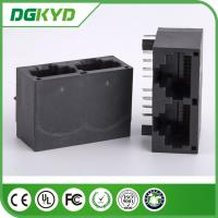 Wholesale DGKYD112Q006IWA1D 8 pin modular jack , CAT6 dual port rj45 connector from china suppliers