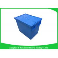 Wholesale Heavy Duty Moving Stackable Plastic Tote Boxes With Hinged Lids from china suppliers