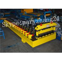 Wholesale 380V 50Hz Steel Tile Roll Forming Machine with PLC Compture Control System / Cr12mov Blade from china suppliers