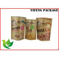 Wholesale Gravure Printing Kraft Paper Stand Up Pouch For Food , Size Customized from china suppliers