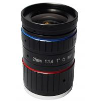 "1"" Image size C mount F1.4 aperture metal+glass 8Mp manual iris 25mm compact size ITS lens"
