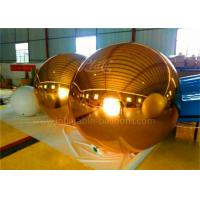 Wholesale Ornament Customized Inflatable Advertising Balloons , Inflatable Gold Mirror Ball from china suppliers