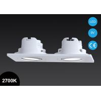 Buy cheap Double Heads 2*3.5W Square COB Adjustable Led Downlights Pure Aluminum / Cut Out  2*60mm from wholesalers
