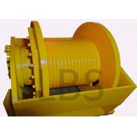 Buy cheap Yellow Hydraulic Crane Winch High Strength Steel With ISO9000 BV Certificates from wholesalers