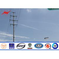 Wholesale AWS D 1.1 Galvanized Electrical Power Pole For 240 kv Distribution Line Project from china suppliers