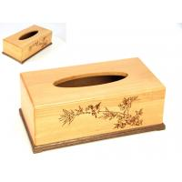 Wholesale Beech Wood Engraved  tissue box from china suppliers