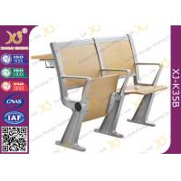 Wholesale Folded Lecture Hall Seating With Desk , School Furniture Lecture Room Chairs from china suppliers