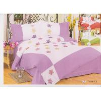 Wholesale Full Size Purple Floral 100 % Cotton Bedroom Decorative Embroidered Queen Bedding Set from china suppliers