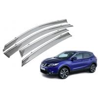 Wholesale Stainless Steel Shining Garnish Window Visors For Nissan Qashqai 2015 Awning from china suppliers